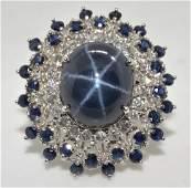 Sapphire  Diamond Ring Appraised Value 7315