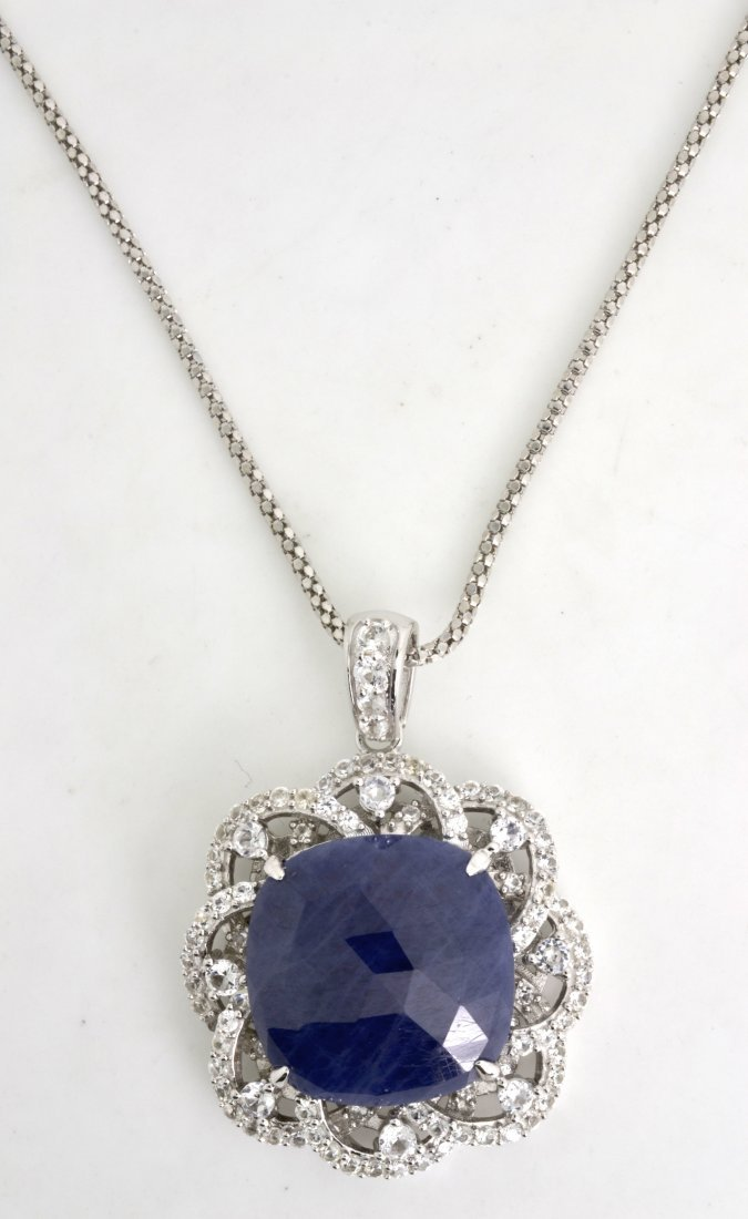 Sapphire Necklace Appraised Value: $3,015