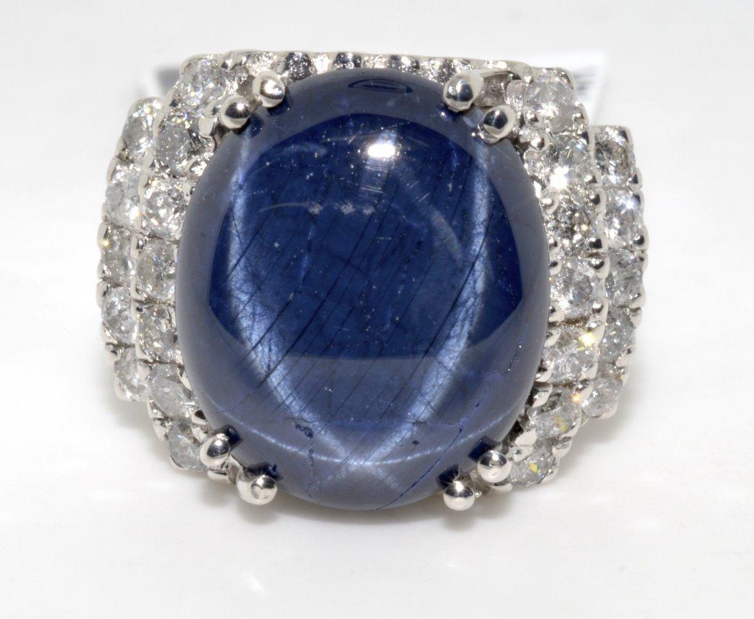 Star Sapphire & Diamond Ring AV: $5,755