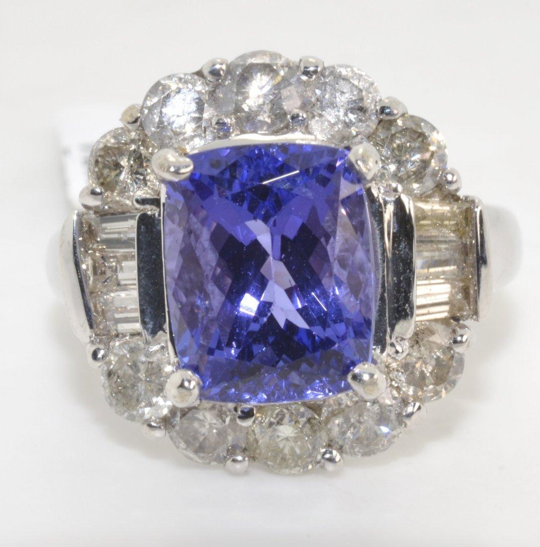 Tanzanite & Diamond Ring Appraised Value: $16,500