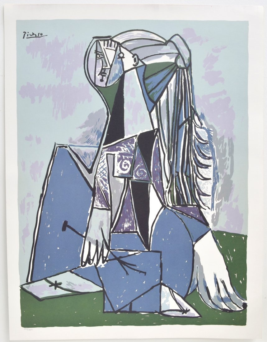 """Pablo Picasso's """"The Thinker"""" Art (LITHO)"""