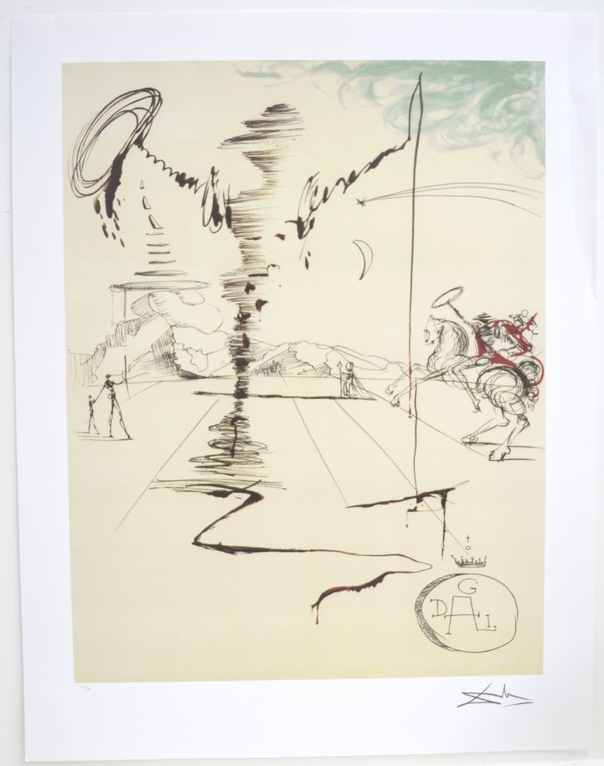 "Salvador Dali's ""Chevalier"" Art (LITHO)"