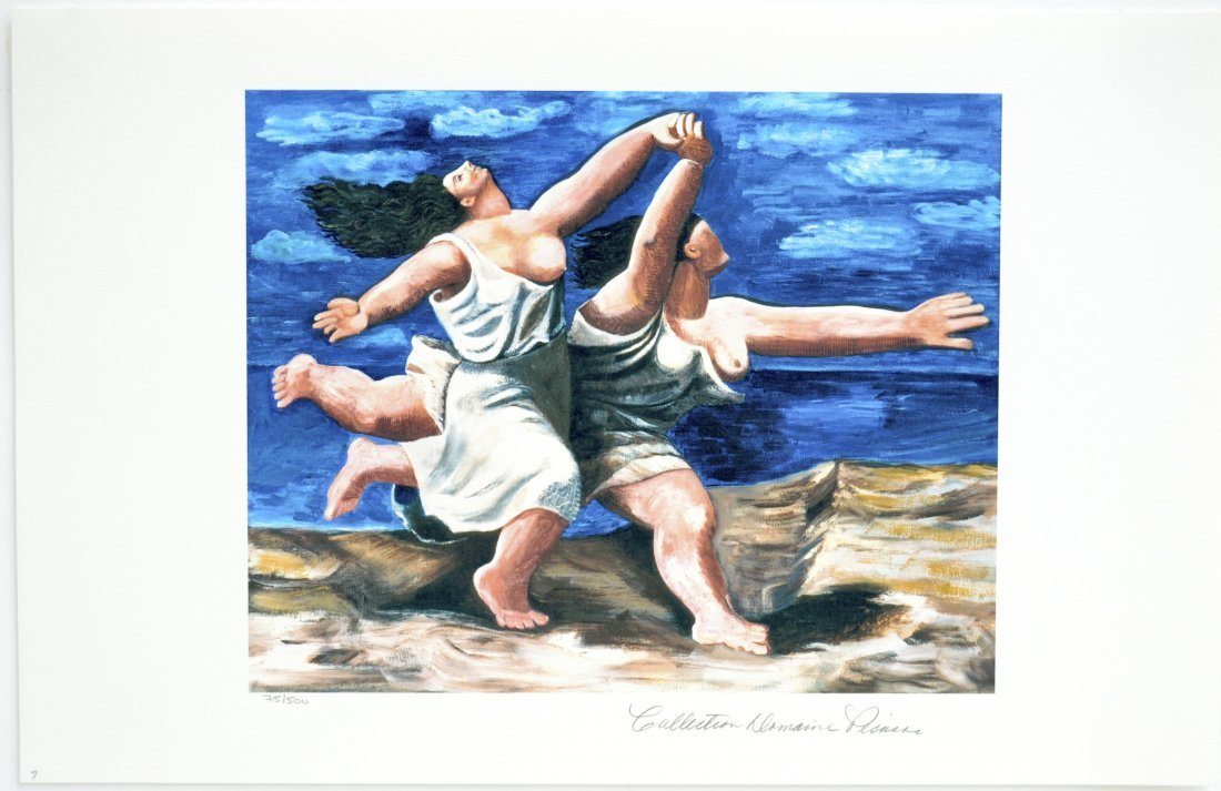 "Pablo Picasso's ""Running on the Beach""  (GICLEE)"
