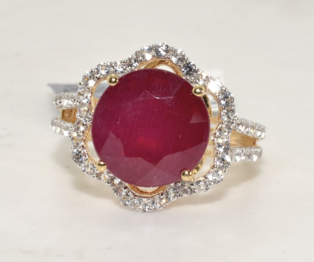 Ruby & Sapphire Ring Appraised Value: $9,381