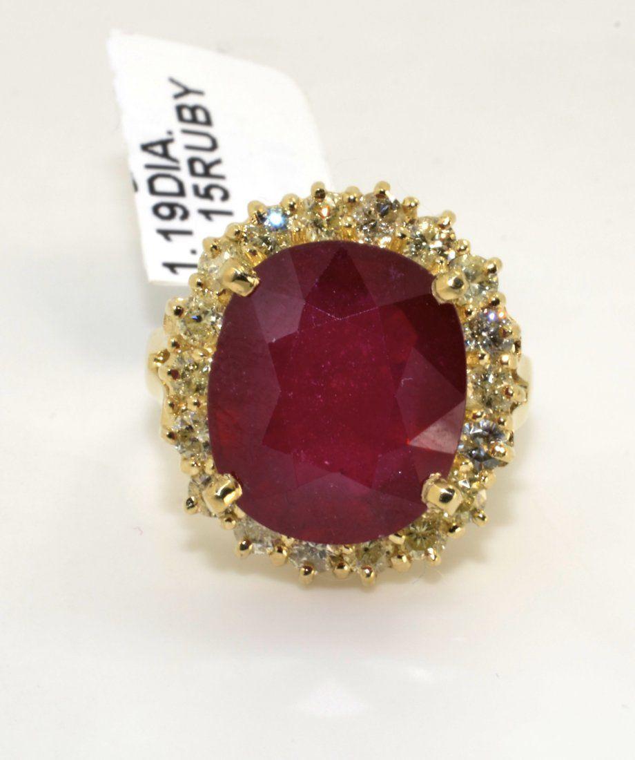 Ruby & Diamond Ring AV: $6,880