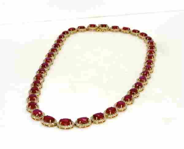 Diamond & Ruby Necklace AV: $35,100