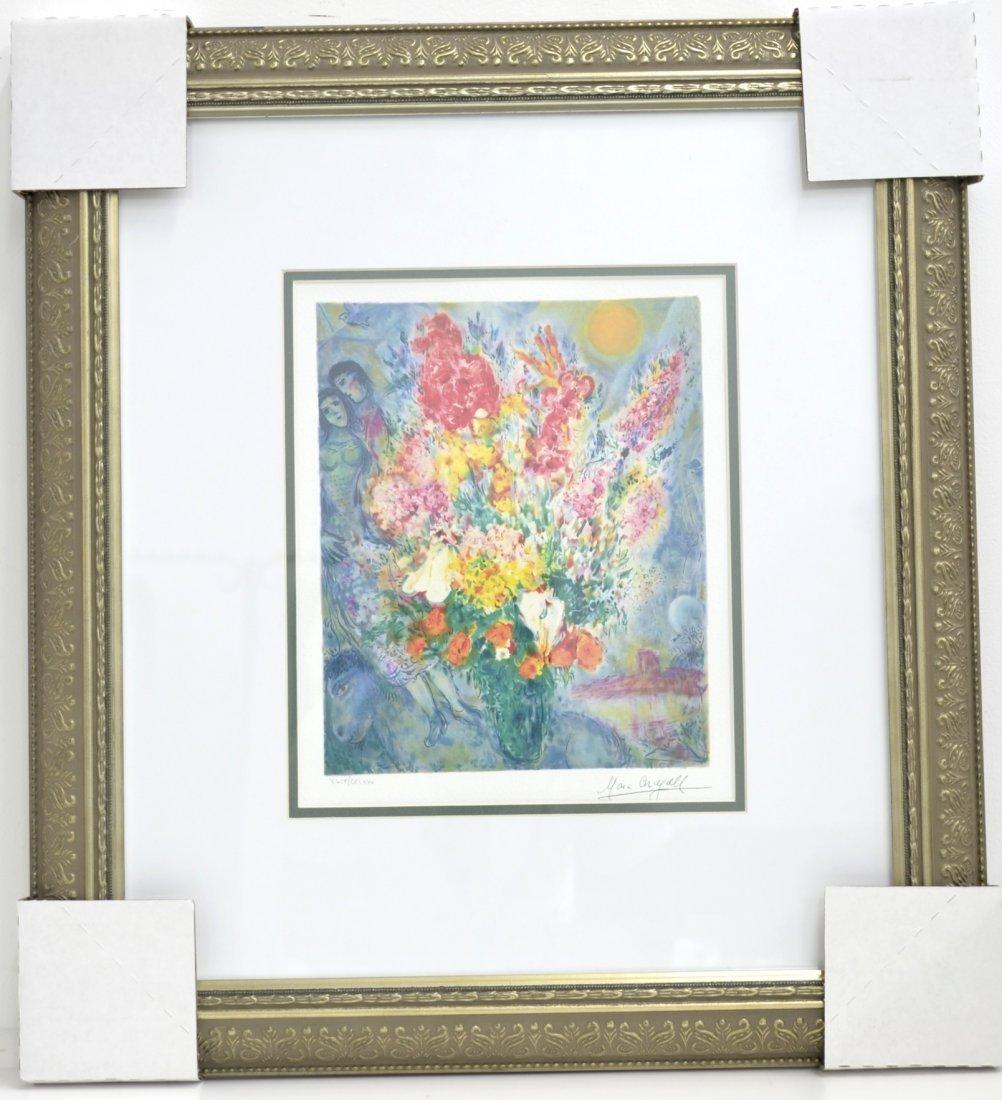 "Marc Chagall ""Floral Bouquet"" Art (FRAMED)"