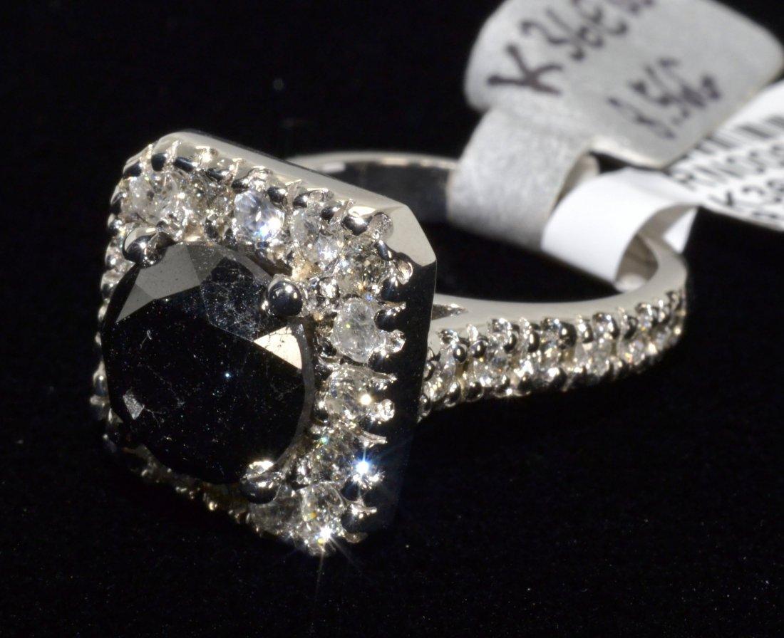 Black & White Diamond Ring Appraised Value: $7,880