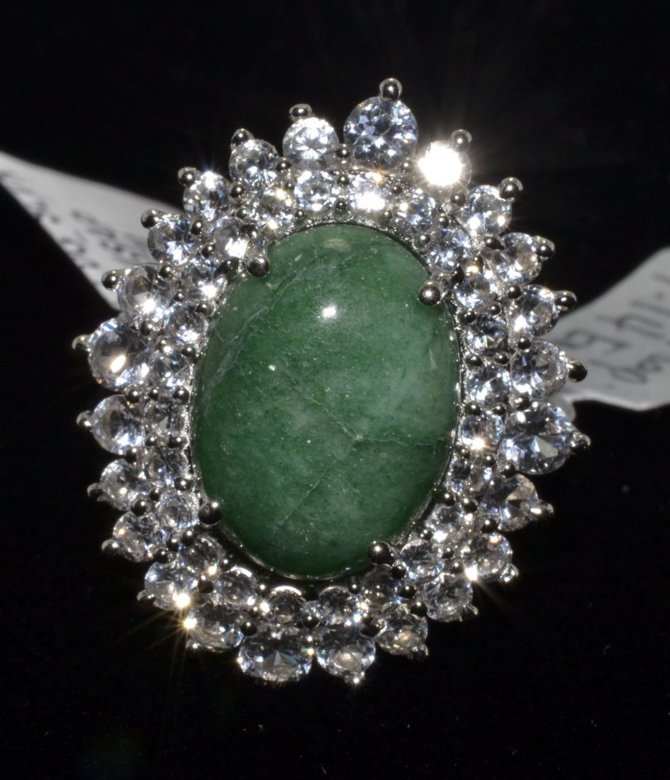 Beryl & Sapphire Ring Appraised Value: $1,425