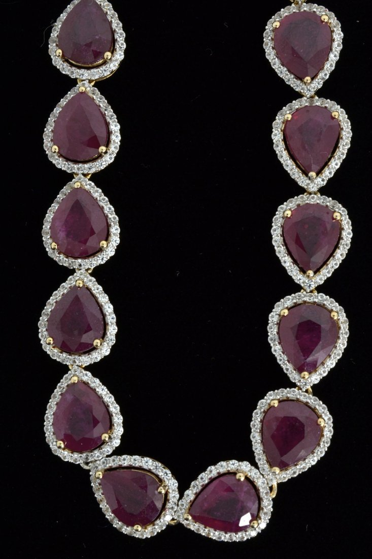 Ruby & Sapphire Necklace Appraised Value: $20,075