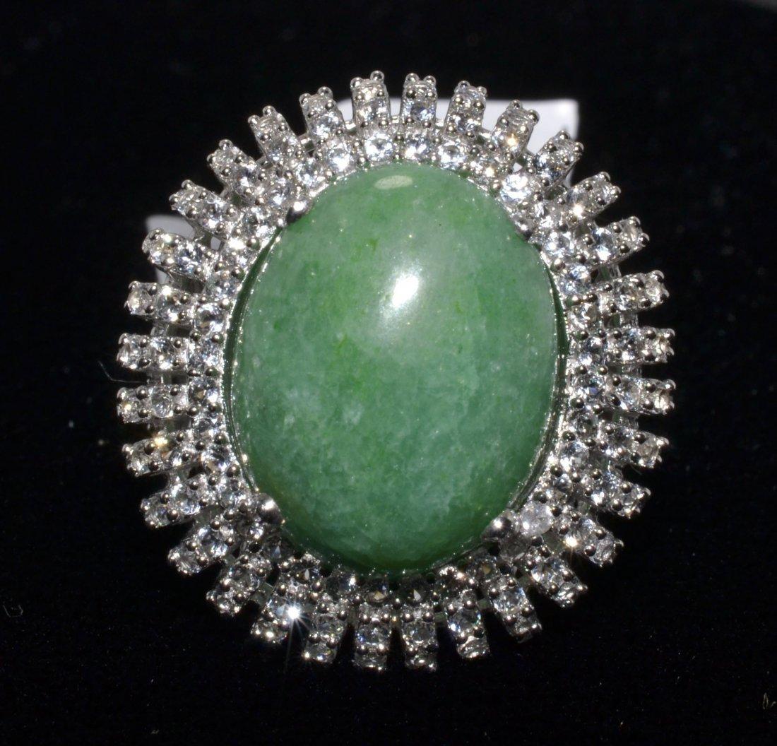 Beryl & Sapphire Ring Appraised Value: $1,775