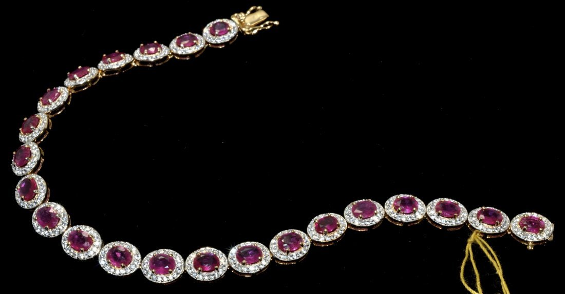 Ruby & Sapphire Bracelet Appraise Value: $4,420