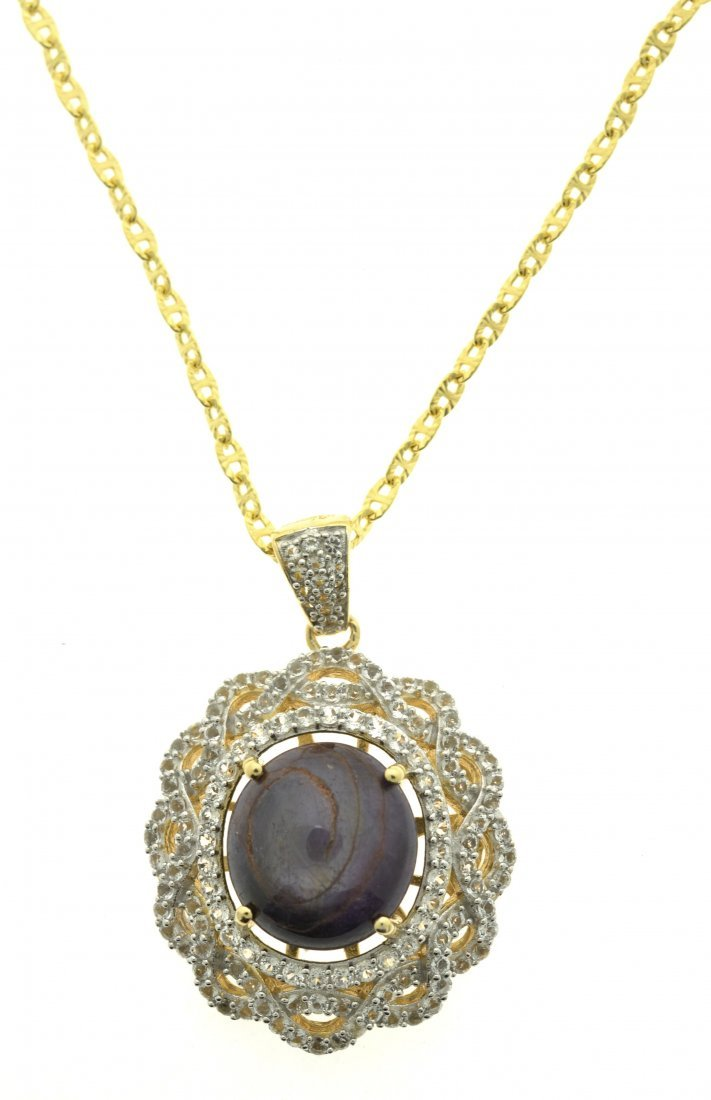 Ruby & Sapphire Necklace Appraised Value: $7,270