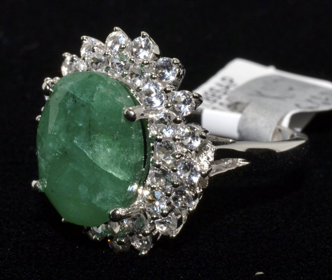 Beryl & Sapphire Ring Appraised Value: $1,120