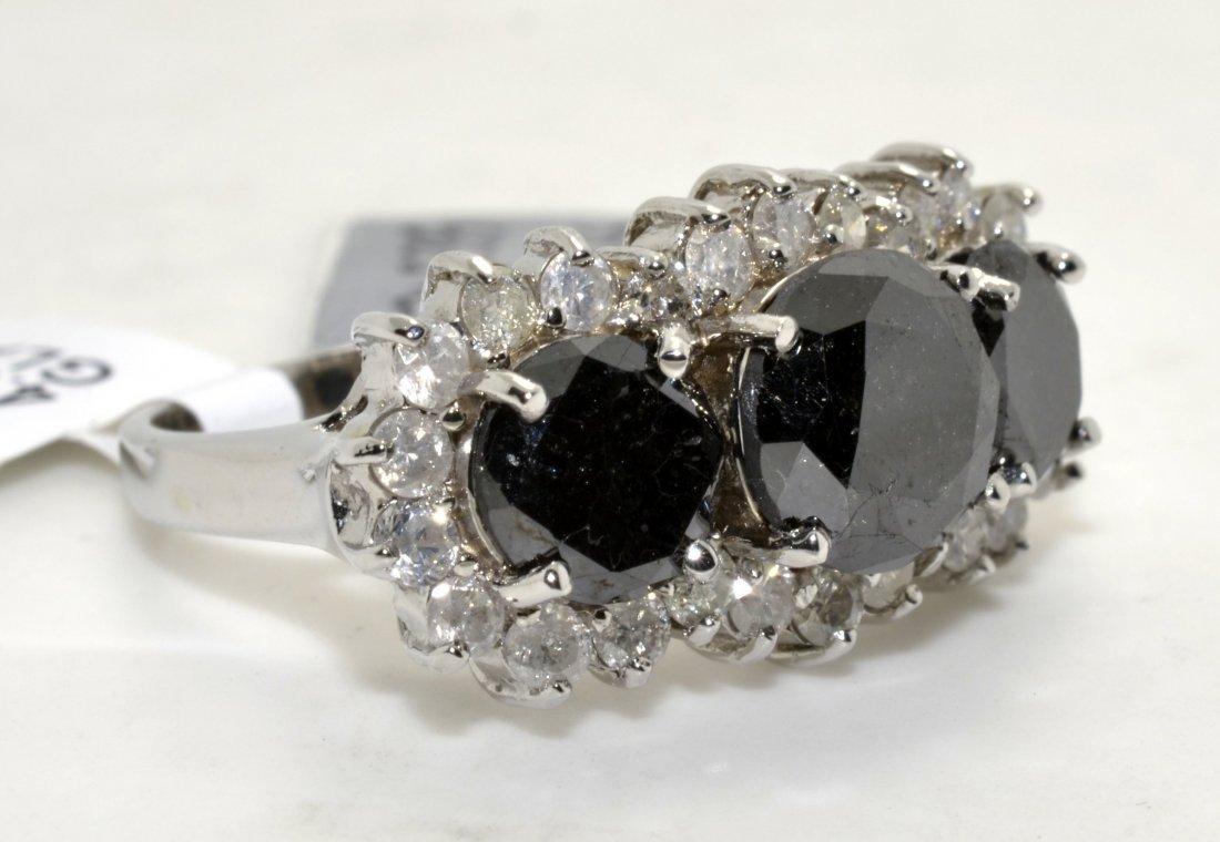 Black & White Diamond Ring Appraised Value: $14,850