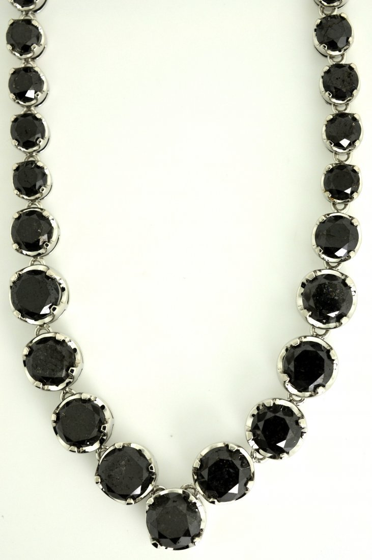 Black Diamond Necklace Appraised Value: $21,500