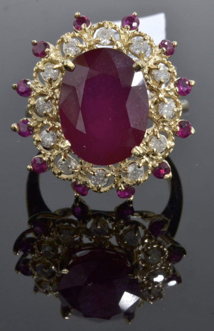 Ruby & Diamond Ring Appraised Value: $6,980