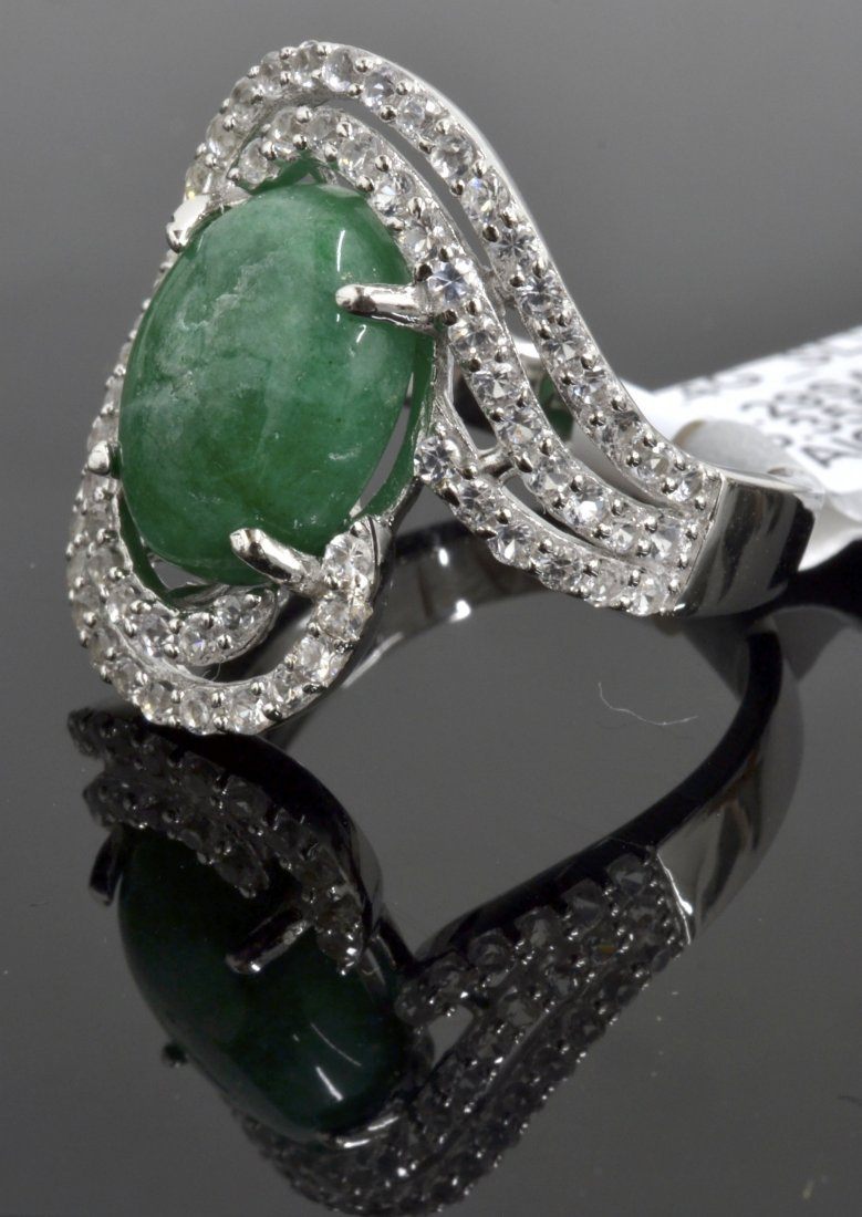 Emerald & Sapphire Ring Appraised Value: $1,815