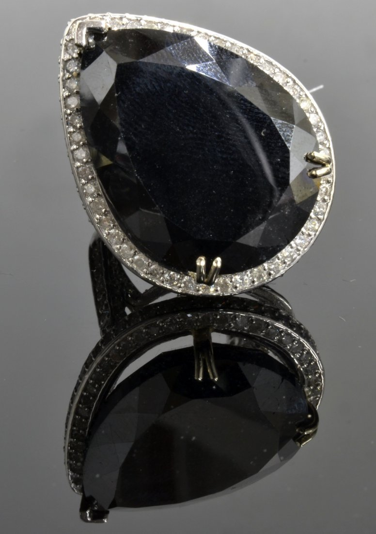 Black & White Diamond Ring Appraised Value: $81,885