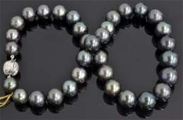 South Sea Tahitian Cultured Pearl Necklace AV 12200