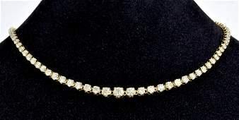 Diamond Tennis Necklace Appraised Value 30020