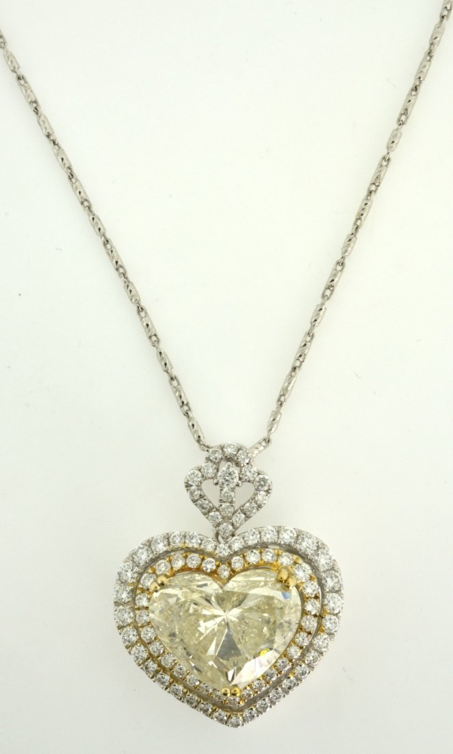 "Diamond ""Heart"" Necklace Appraised Value: $96,900"