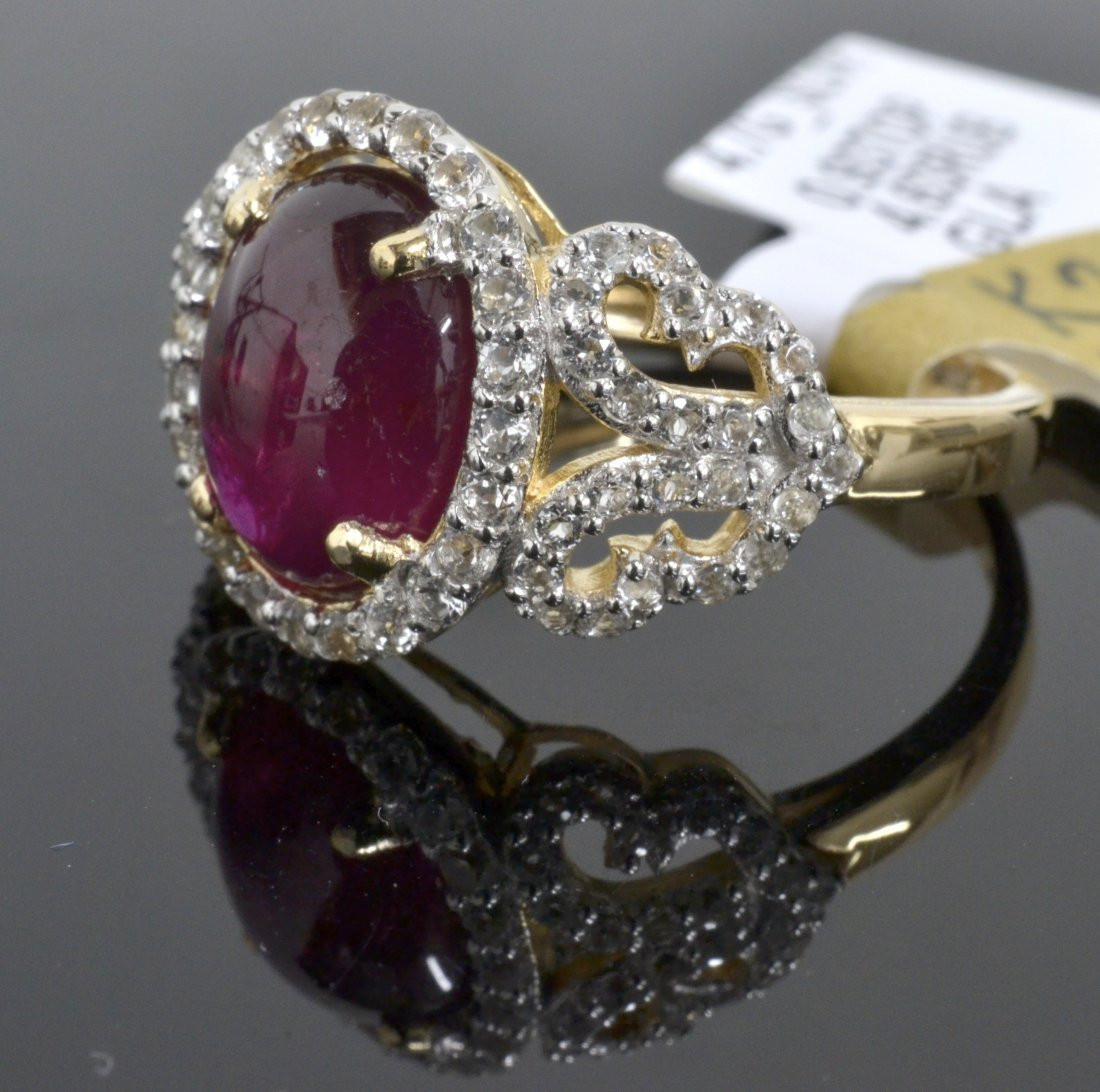 Ruby & Topaz Ring Appraised Value: $5,340