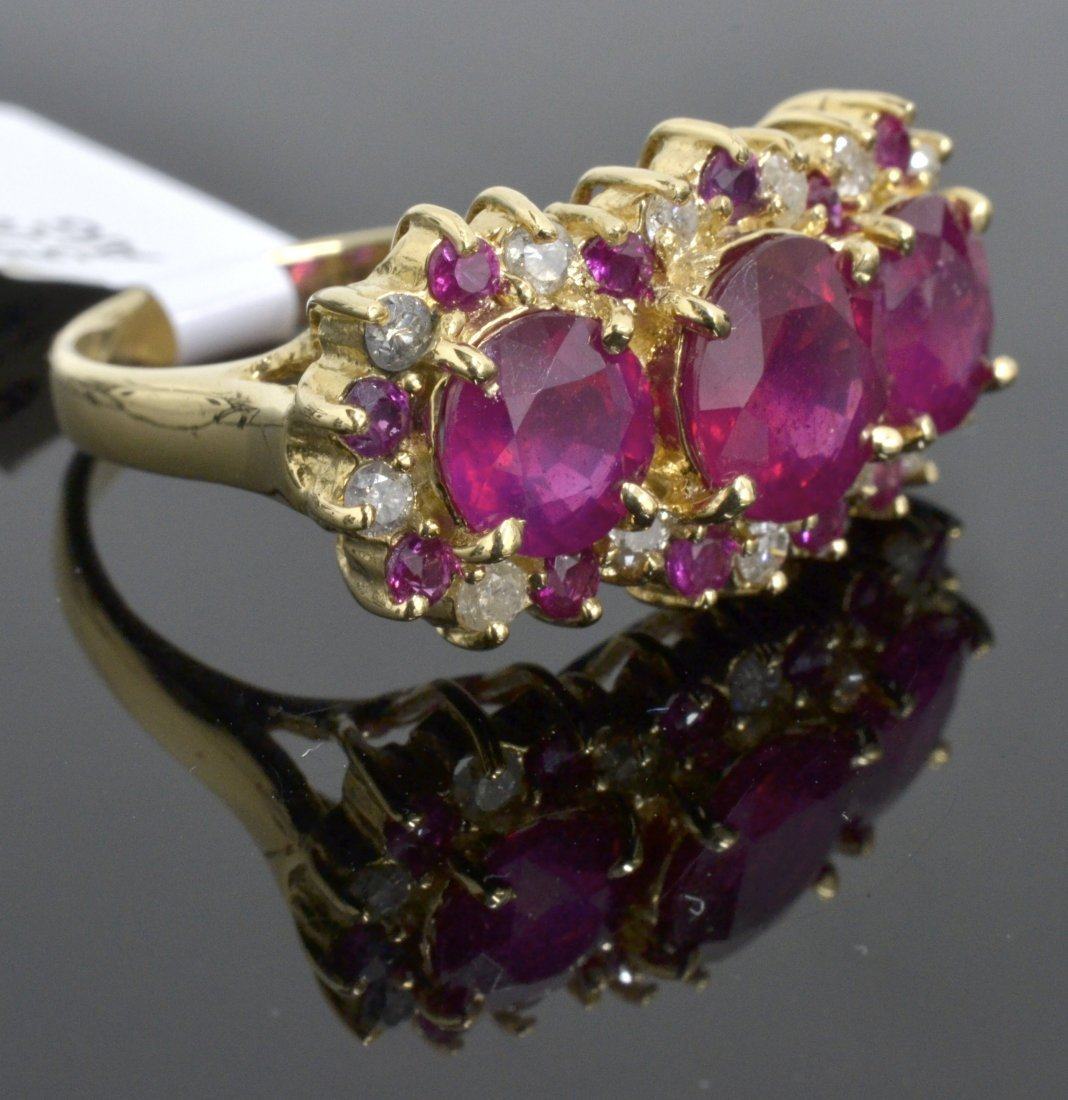 Ruby & Diamond Ring Appraised Value: $3,480