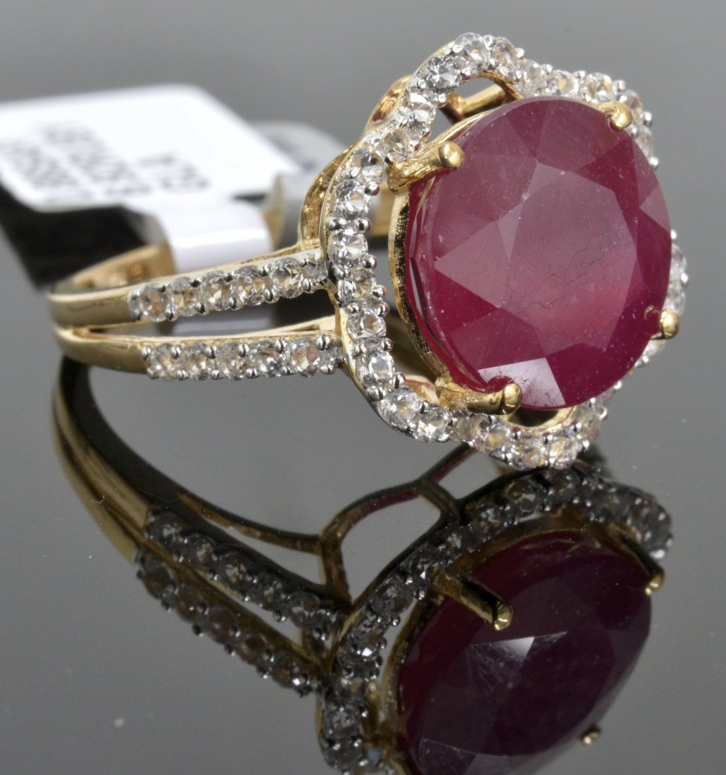 Ruby & Sapphire Ring Appraised Value: $10,752