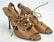 Yves Saint Lauren Leather Heels (NEW)