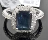 Sapphire  Diamond Ring Appraised Value 2995