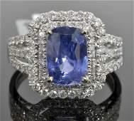 Sapphire & Diamond Ring (GIA CERTIFIED) AV: $15,710