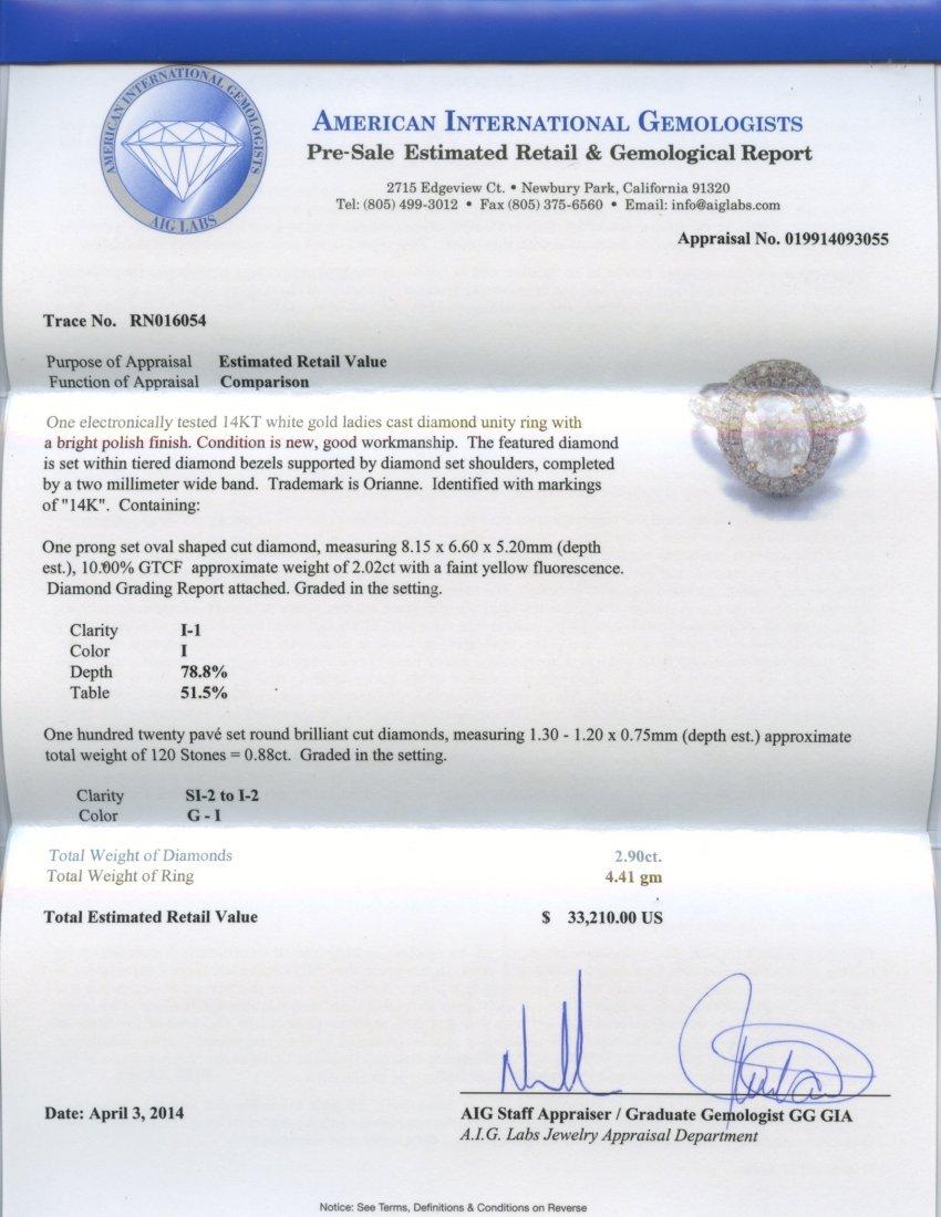 2.90 ct Diamond Ring (Orianne Trademark) AV: $33,210 - 2