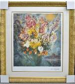 Marc Chagall Floral Bouquet Art FRAMED