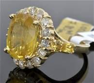 Sapphire  Diamond Ring Appraised Value 19865