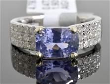 Sapphire  Diamond Ring GIA CERT AV 13015