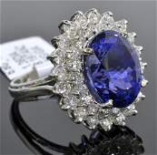 Tanzanite & Diamond Ring (GIA CERTIFIED) AV: $25,355