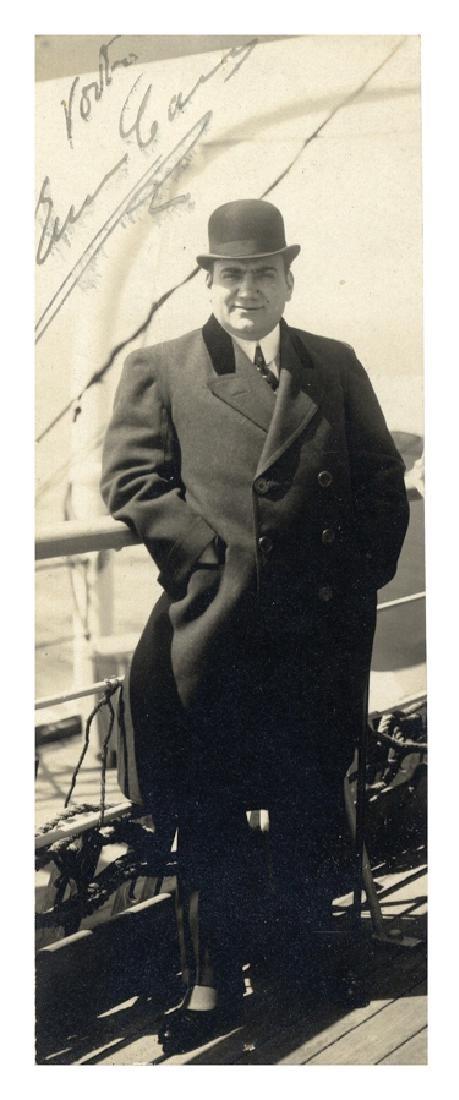 Caruso, Fotografia con lungo messaggio e firma…
