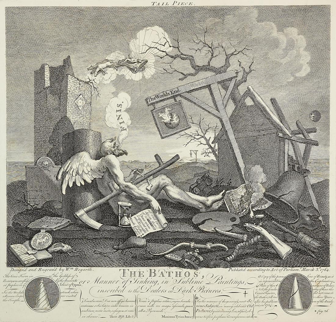 Hogarth, Tail Piece. The Bathos