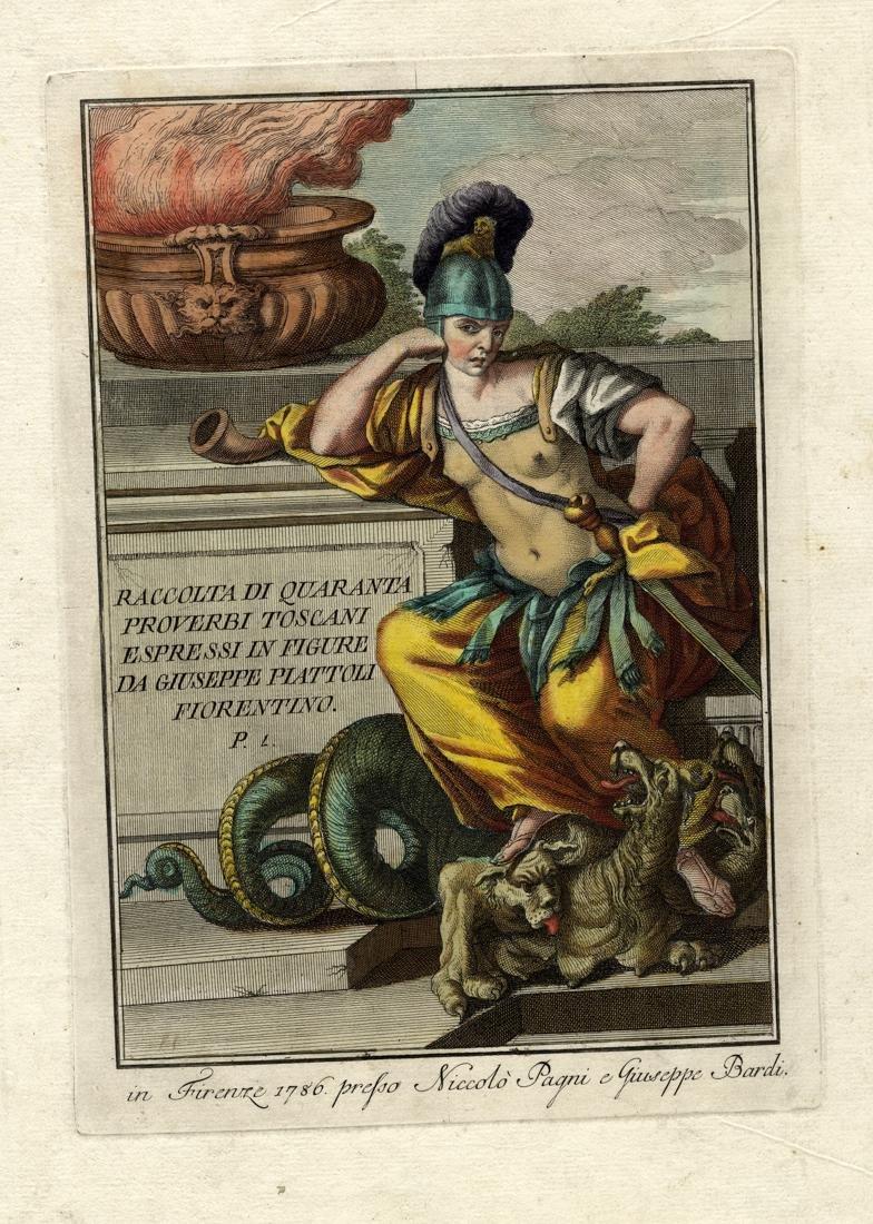 Lasinio, Frontespizio da Raccolta di 40 proverbi