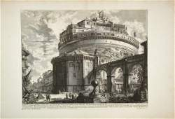 Piranesi, Veduta del Mausoleo d'Elio Adriano