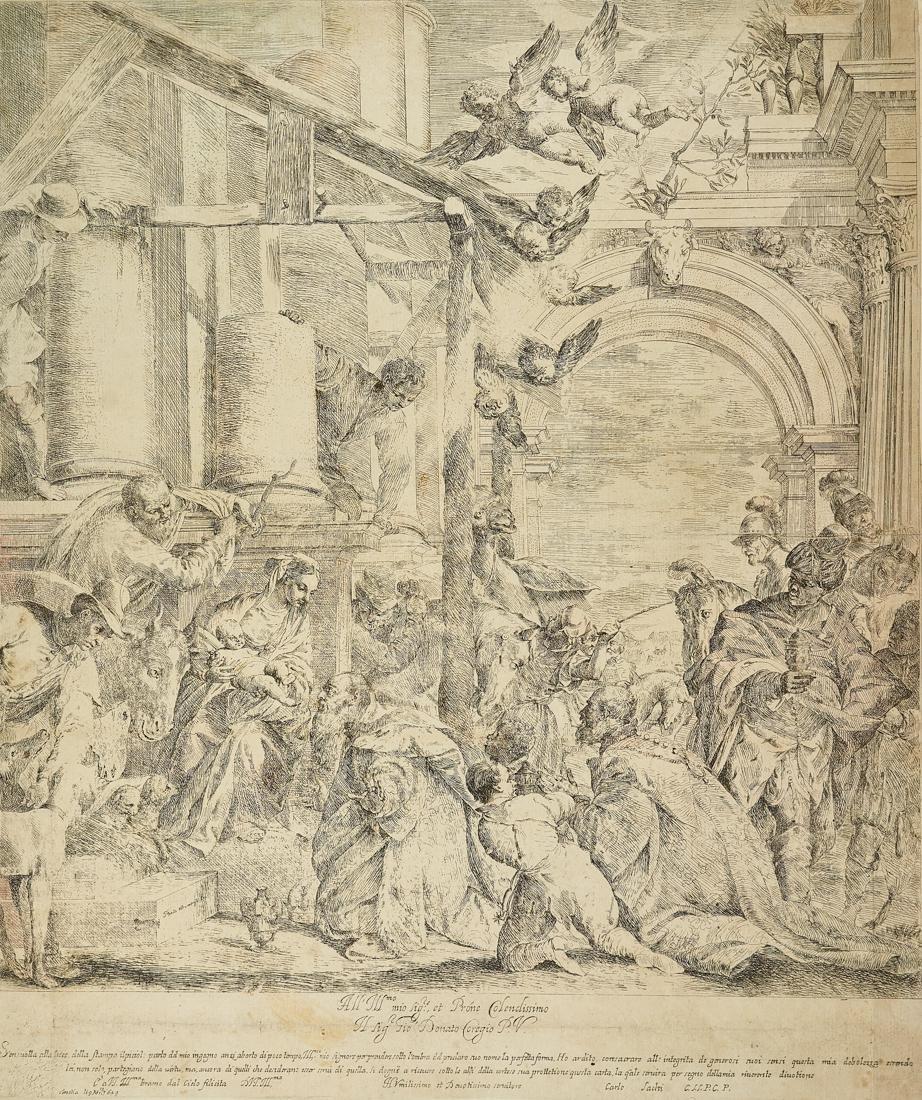 Sacchi, Adorazione dei Magi. Da Paolo Veronese