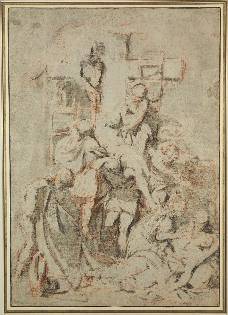 Anonimo XVI sec., Discesa dalla croce