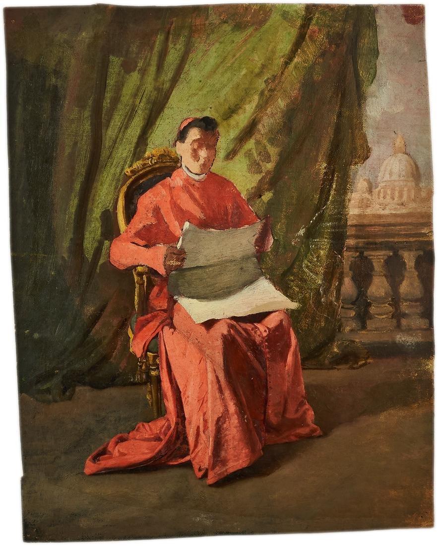 Anonimo XIX sec., Coppia di bozzetti
