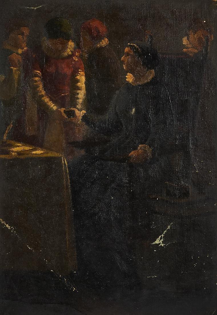 Anonimo XIX sec., Coppia di bozzetti - 2