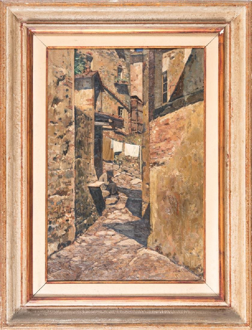 Castellan, Strada di paese con figura