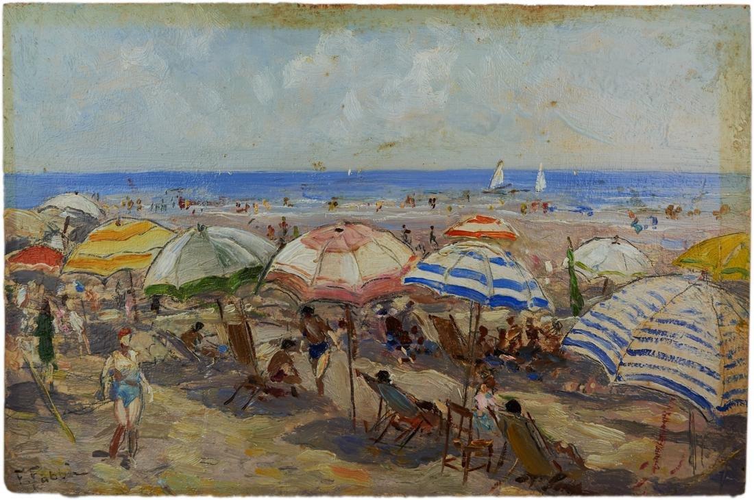 Fabbi, Spiaggia con ombrelloni