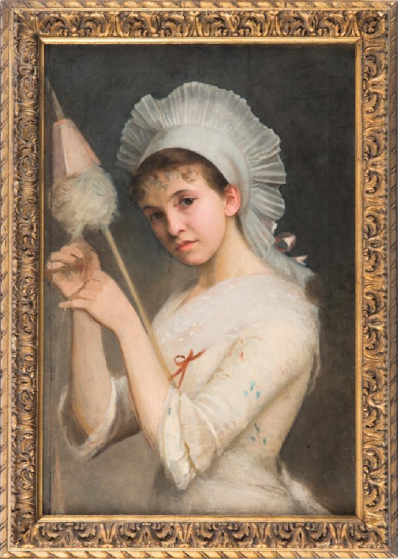 Gordigiani, Ritratto di ragazza con fuso