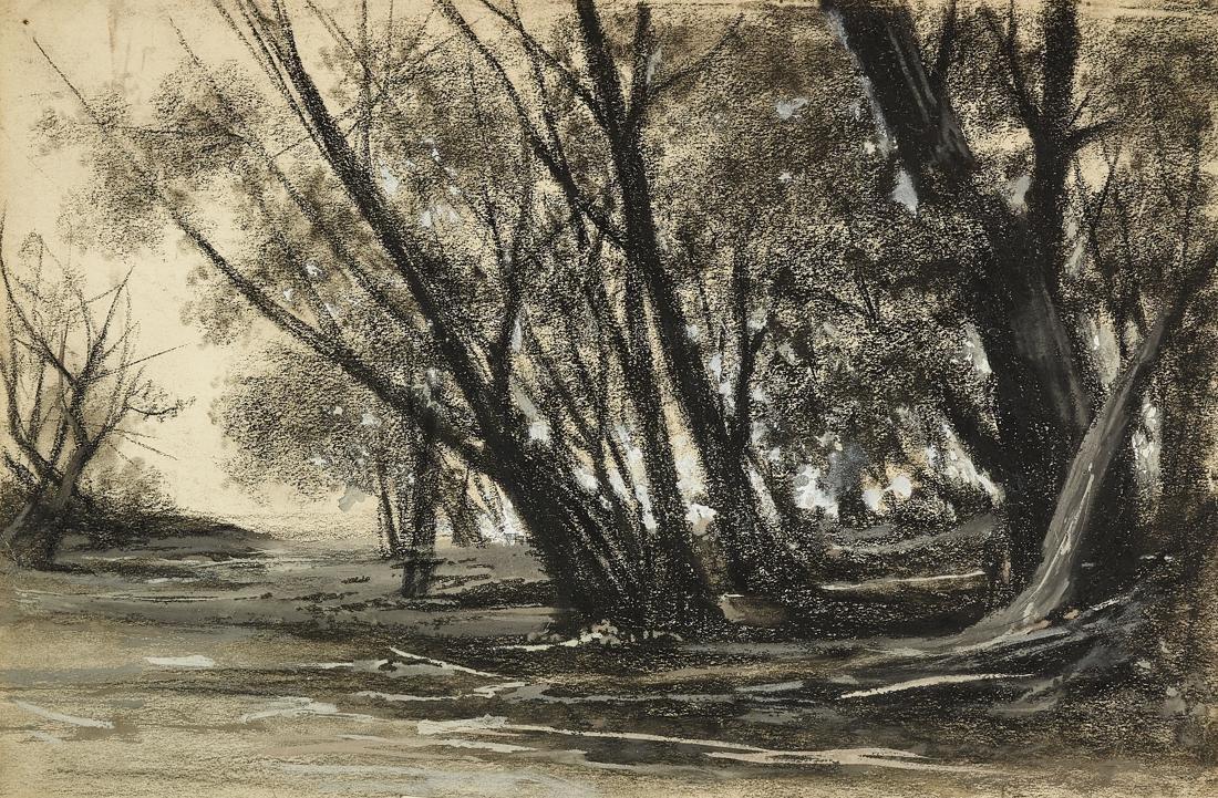 Fontanesi, Paesaggio con alberi