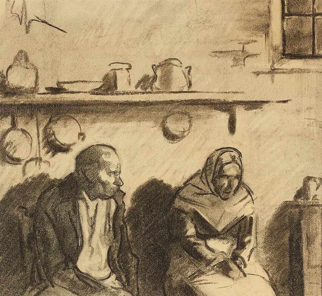 Sacchetti, Coppia di contadini seduti